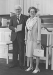 Frank Stanger honored as an honorary class member in Estes Chapel, 1981
