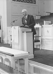Frank Stanger honored as Honorary Class Member, in Estes Chapel, May 1981