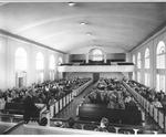 Frank Stanger preaching in Estes Chapel
