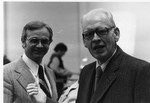 Frank Stanger and Eugene Lintemuth, VP of Business Administration Spring, 1977