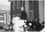 Charles Lincoln Taylor giving inauguration greetings
