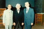 J C McPheeters, Charles Killian (dressed as H C Morrison) and Frank Bateman Stanger