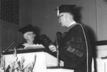 Establishment of the Frank Paul Morris Chair of Christian Doctrine with Mrs Gaile Morris, 1963