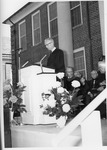 Mayor Hugh Sims giving inauguration greetings