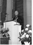 Paul S. Reese giving the Inaugural sermon at President Stanger's Inauguration