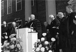 J.C. McPheeters giving the benediction at the Inauguration of President Stanger