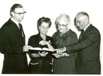 J. T. Seamands, Alfreda Rooke, Martha R. Jones, J. C. McPheeters, April, 1962, Jones Lectureship in Nutrition