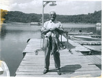 J. C. McPheeters fishing at Dale Hollow Lake, Tennessee