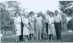 J.C McPheeters at the Herald Board Meeting Dale Hollow Lake, Tennessee, includes Frank and Mardelle Stanger, J. C. McPheeters, Kathleen and Donald Demaray
