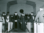 Dean W. D. Turkington and J. C. McPheeters in Estes Chapel