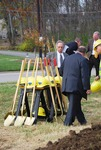 Kalas village Groundbreaking:  shovels and hard hats