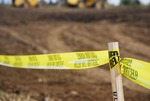 Kalas village Groundbreaking:  yellow tape