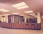 B. L. Fisher Library Circulation Desk 1967