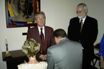 Steve Harper leading the laying of hands on Jeff and Beth Greenway (2)
