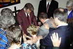 Laying of hands on Jeff and Beth Greenway by Asbury Florida Staff and Faculty