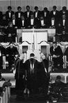 Frank Stanger  and J C McPheeters laying hands on and praying for David McKenna at his Presidential Inauguration Service