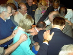 Laying of hands on Jeff Greenway and his wife, Beth (2)