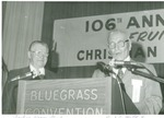 Bishop Henry Ginder and J.C.  McPheeters at the 106th Christian Holiness Association Convention in Louisville, 1974