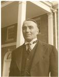 J. C. McPheeters standing outside Larabee-Morris Hall, 1946