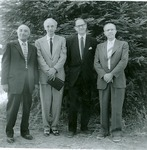 J.C. McPheeters with  Basil Osipoff and Don Morris at CA Redwoods Christian Association, 1956