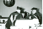 J. C. McPheeters receives an honorary degree in Estes Chapel