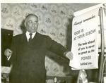 J.C. McPheeters preaching at Evangelistic Preaching Mission, October, 1956