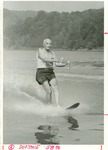 J. C. McPheeters waterskiing at age 89, July 1978