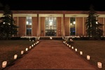 Inauguration of President Timothy Tennent - Luminaries lighting sidewalks