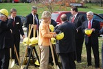 Kalas Village Groundbreaking:  People getting shovels