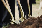 Kalas Village Groundbreaking:  Shovels