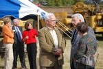 Kalas Village Groundbreaking:  people gathered after groundbreaking