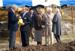 Kalas Village Groundbreaking:  gathering after groundbreaking