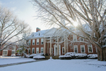 Admin Building - Snowy Side Shot by Asbury Theological Seminary Communications