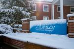 Snowy Seminary Sign - Old Logo