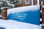 Snowy Seminary Sign - Old Logo