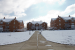 William House, Orlean House, and Elizabeth House - Snow