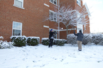 Old Housing Snowball Fight
