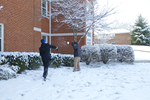More Snowball Fighting in Front of the Old Housing