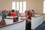 Students in Estes Chapel - Front Section, Front Shot