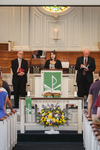 April Bates Leading Prayer in Chapel