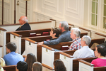 Students and Faculty Listening in Estes Chapel - Balcony Shot
