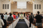 Rev. Nam Koh Leading Prayer in Estes Chapel - Far Shot