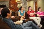Students Talking in Gallaway Village - 8