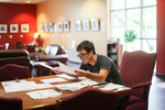Miles Meehan Studying in the Student Center - 4