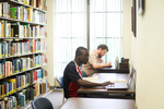 Two Male Students Studying in the Library - 2