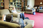 Students Studying in the Library Quiet Area