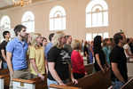Students Standing in Estes Chapel