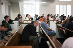 Praying in Estes Chapel