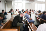 Praying in Estes Chapel - 2