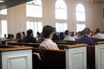 Students Listening in Estes Chapel - Rear Side Shot 3